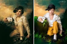 Children With Down Syndrome Recreate Famous Paintings To Prove That Everyone Is A Work Of Art - Sir Henry Raeburn, 'Boy and Rabbit'