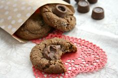 Delicious chocolate molasses crinkle cookies, stuffed with caramels for an extra special treat. These chewy cookies have a classic crinkled top.
