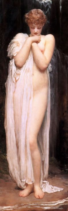 Crenaia, the Nymph of the Dargle by Lord Frederick Leighton - 2 images - Art Renewal Center Frederick Leighton, Pics Art, Classic Paintings, Pre Raphaelite, Victorian Art, Oil Painting Reproductions, Figurative Art, Oeuvre D'art, Painting & Drawing