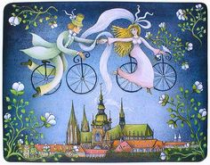 Wedding over the Old Town by Emma Srncova.