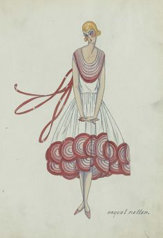An incredible discovery has sparked excitement surrounding the Lanvin heritage. On 29 November 2012, an exceptional wardrobe sale of Spanish actress Catalina Barcena (1888-1978) will be held at Christies in London. Much to the delight of old dress collectors, Jeanne's creations have resurfaced, setting the scene for a real true love story. ©Copyright Lanvin Patrimoine