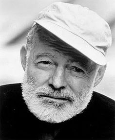 """Ernest """"Papa"""" Hemingway- author most famous for """"A Farewell To Arms"""" and """"The Old Man and the Sea"""". He committed suicide on July 2, 1961 at the age of 61."""