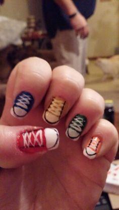 Converse My Nails, Nail Designs, Converse, Beauty, Polish Nails, Nail Desings, Beleza, Nail Design, All Star
