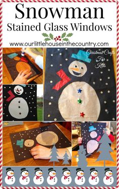 Looking for a Winter or Christmassy craft for children, then why not try out this snowman stained glass window activity. Snowman Stained Glass Windows - Christmas and Winter crafts for kids What yo...