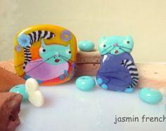 jasmin french ' need to cuddle? ' lampwork focal beads glass art jewelry kit set