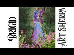 Brigid Spring Queen Fairy Acrylic Painting tutorial BAQ #1 - YouTube