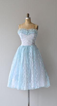 Blue Sky Blue dress vintage 1950s dress 50s by DearGolden