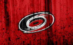 Download wallpapers 4k, Carolina Hurricanes, grunge, NHL, hockey, art, Eastern Conference, USA, logo, stone texture, Metropolitan Division