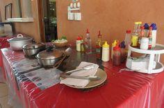 dining hall spread   - Costa Rica