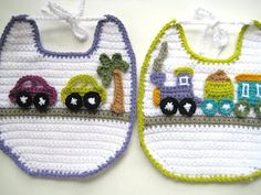 Appliquéd Crochet Bib Pattern for Boys