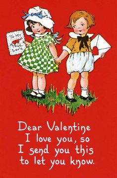 Vintage Valentine's for Kids Postcards Kinder Valentines, Valentines Greetings, Valentine Greeting Cards, My Funny Valentine, Vintage Valentine Cards, Vintage Greeting Cards, Vintage Postcards, Happy Valentines Day, Valentine Ideas