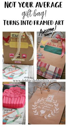 Make a gift bag into a work of art - Debbiedoos