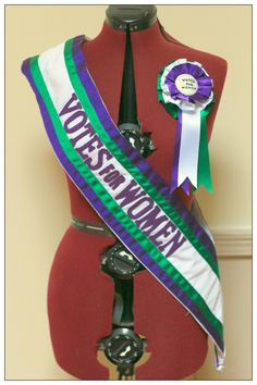 Suffragette sash and rosette for The Royal Exchange Theatre, Manchester by… Women Suffragette, Women Right To Vote, Edwardian Costumes, Suffrage Movement, Edwardian Fashion, Women In History, Girl Scouts, Strong Women, Sash