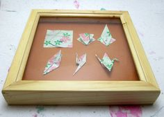 Origami Crane Shadow Box Display Case: Origami paper by PaperEdge