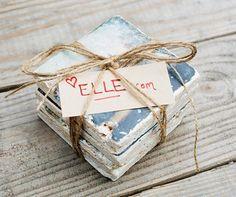 Instagram Coasters Tutorial - Photo Transfer Gift DIY - Elle