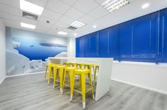 Gtech Technologies | Γραφεία | Μαρούσι | iidsk | Interior Design & Construction Cheap Stores, Four Square, Offices, Construction, Touch, Interior Design, Amp, Color, Yellow