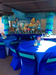 Bubble Guppies Birthday Party Ideas | Photo 7 of 18 | Catch My Party Second Birthday Ideas, Baby First Birthday, Frozen Birthday, Bubble Party, Bubble Guppies Birthday, Bubble Birthday Parties, Birthday Party Themes, Nemo Y Dory, Maya