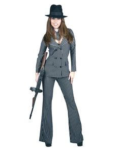 Girl gangster costume for roaring 20's party