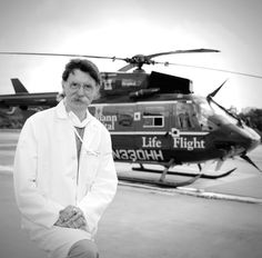 "A lifelong Texan, the straightforward, hardworking Dr. James ""Red"" Duke is a world famous trauma surgeon. He established Houston's Hermann Hospital Life Flight operations in 1976 and remains the medical director of its trauma and emergency services. (photo by Evin Thayer)"