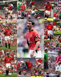 Photo Collage of the Day:  August 27 2002, the opening day of the 2002-03 season, Manchester United 1 - 0 WBA, thanks to a late goal from Ole Gunnar Solskjaer.  Captain Roy Keane was under a shadow after his admission that he had deliberately tried to injure Alfe Inge Haaland, and his mood was certainly cantankerous!  Click through for full size image. Roy Keane, Sir Alex Ferguson, Premier League Champions, August 27, Opening Day, Fa Cup, Manchester United, Goal, Collage