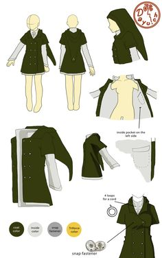 I don't even remember where I found this, but I want someone to make it for me! It's a coat based on Link's outfit from The Legend of Zelda, and even though it's based on a video game I think it could be so stylish!