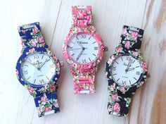 jewels watch geneva watches bracelets floral flowers pink black blue chanel vogue girly outfit fashion cute quote on it quote on it tumblr internet grunge vintage hipster boho bohemian love assessories roman numerals