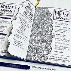 "Bullet Journal 📓 on Instagram: ""Created by @barbarahaegerart . . . . . . . . . . . . . . . . #bulletjournal #paper #notebook #mood #moodtrackers #letteringchallenge…"""