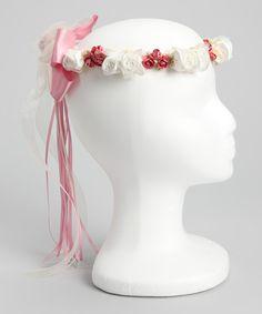 Love this Rose Silk Flower Bow Halo by Kid's Dream on #zulily! #zulilyfinds