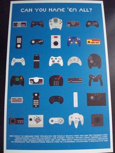 """Video Game Controllers  11"""" x 17"""" art print"""