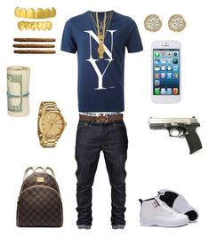 """((School Flow)) ~Kevin"" by leonar-287 ❤ liked on Polyvore featuring Tommy Hilfiger, Saturdays, Nixon, Retrò, Mister, Jamie Wolf, Juicy Couture, Louis Vuitton and Michael Kors"