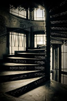 Beautiful old staircase Wroclaw, Poland.- I have dreamt of this staircase. Spiral Staircase, Staircase Design, Architecture Old, Beautiful Architecture, Abandoned Buildings, Abandoned Places, Visit Poland, Traditional Staircase, Abandoned Hospital