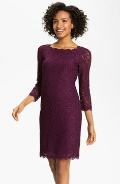 Adrianna Papell Lace Overlay Sheath Dress | Nordstrom.  Almost perfect.