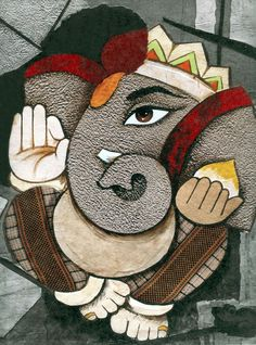 Lord Ganesha - Hindu Posters (Reprint on Card Paper - Unframed) Mural Painting, Mural Art, Texture Painting, Budha Painting, Lord Ganesha Paintings, Ganesha Art, Ganesha Rangoli, Clay Ganesha, Sri Ganesh
