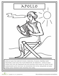 Worksheets: Greek Gods: Apollo