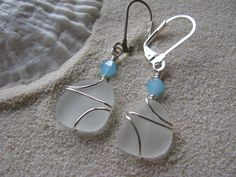 Sea Glass Jewelry and Beach Wedding Jewelry by BostonSeaglass Beach Wedding Jewelry, Beach Jewelry, Sea Glass Jewelry, Unique Jewelry, Wedding Beach, Glass Earrings, Blue Crystals, Silver Bracelets, Jewelry Collection