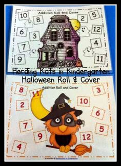 Halloween Roll & Cover addition games.