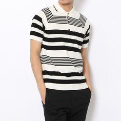 ギザコットン ニットポロシャツTOMORROWLAND Men's Fashion, Sewing, Mens Tops, T Shirt, Shopping, Women, Moda Masculina, Supreme T Shirt, Mens Fashion