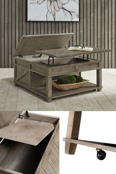 The essence of the urban living furniture is its unique ability to fit many different styles-Rustic, casual, contemporary-The Parkland Falls lift-top cocktail table has both beauty and function. This square cocktail with a lift top can be used for a laptop or a snack while watching your favorite shows. #cocktailtable #coffeetable #livingroom #familyroom #den #grandroom #homeaccentfurniture #storagecoffeetable #casters