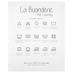 The Laundry Printed Canvas Bathroom Art, Basement Bathroom, Bathroom Ideas, Bouclair, Wash And Fold, Photo Buttons, Small Corner, Clean Machine, Rustic Feel