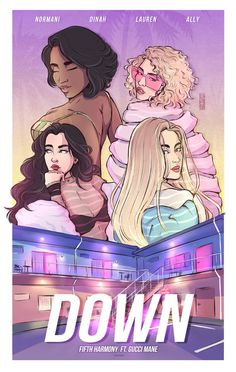 fifth harmony Anime-shaped Ally Brooke, Harmony Anime, Camren Tumblr, Hamilton, Fith Harmony, Fifth Harmony Camren, Fanart, Bonnie N Clyde, Gucci Mane