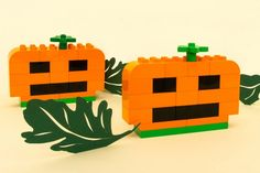 All the fun of pumpkin carving, minus the sticky mess and sharp knives! Little ones will enjoy it, too, because they can really get involved.  Lots of fun ideas using Duplo for little ones here.