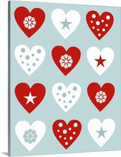 """Christmas Hearts"" by Carla Martell via @greatbigcanvas available at GreatBIGCanvas.com."