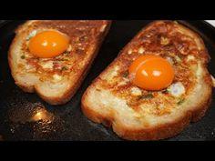 Nový spôsob výroby vajec na raňajky. Chutné vaječné sendviče - YouTube What's For Breakfast, Breakfast Recipes, Egg Recipes, Cooking Recipes, Ways To Make Eggs, Omelettes, Egg Sandwiches, Deviled Eggs, Bon Appetit