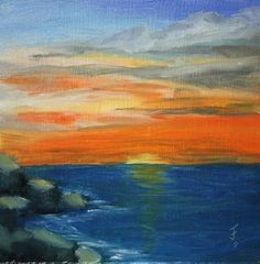 """Sunset Serenity"" - Original Fine Art for Sale - © Jane Frederick"