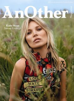 Kate Moss on one of the four covers for AnOther Magazine A/W14. Photography by Alasdair McLellan, Styling by Alister Mackie.