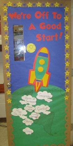 Classroom door decor, would love this for writing what students will be doing in gym class