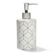Ceramic Soap Dispenser - Geometric Pattern