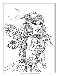 Fairy Coloring Sheet