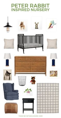 Create a charming Peter Rabbit nursery that's vintage with just enough modern flair to make it the perfect blend of styles. It's a baby room that any Beatrix Potter fan will love!