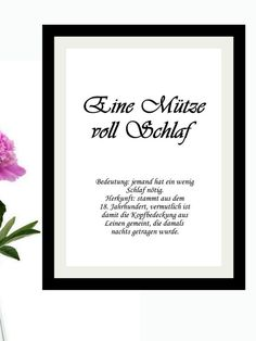 """Funny German idioms: Eine Mütze voll Schlaf. Pictures with sayings: funny German teacher gift, lovely as a German grandpa gift or oma gift. Schriftgeschenke - deutsche Redewendsarten """"Aus dem Nähkästchen plaudern"""" #funnygift #literaryprints #poetrywallart #idioms #german Text Poster, Poster Fonts, Zauber Quotes, Funny Wall Art, Magic Quotes, Text Pictures, Sewing Box, Minimalist Poster, Funny Gifts"""